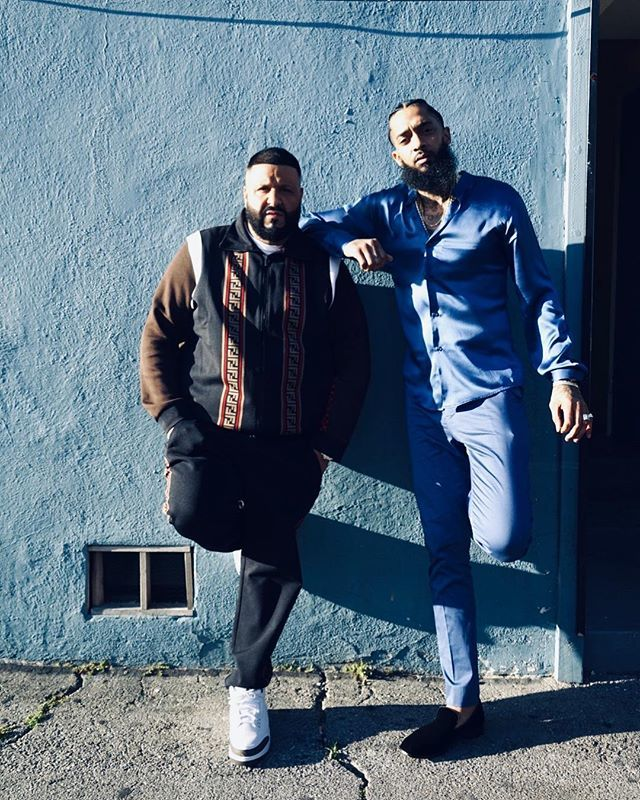 Bless up @nipseyhussle nothing but luv  FATHER OF ASAHD MAY 17 https://t.co/bZAUzHuPqq