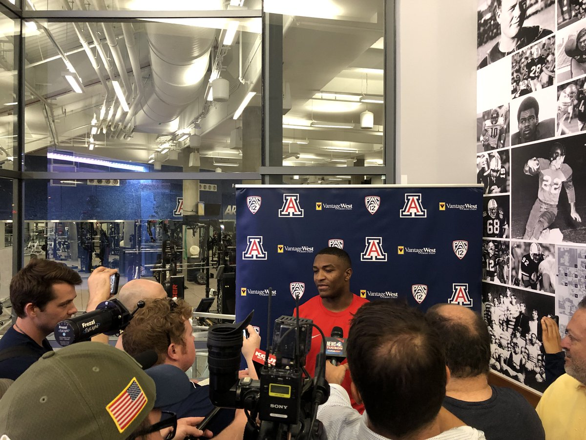 4f86859fff1a Arizona s senior QB getting his first chance to talk with the media since  the end of last season. He s talked a lot about leadership so farpic.twitter.com   ...