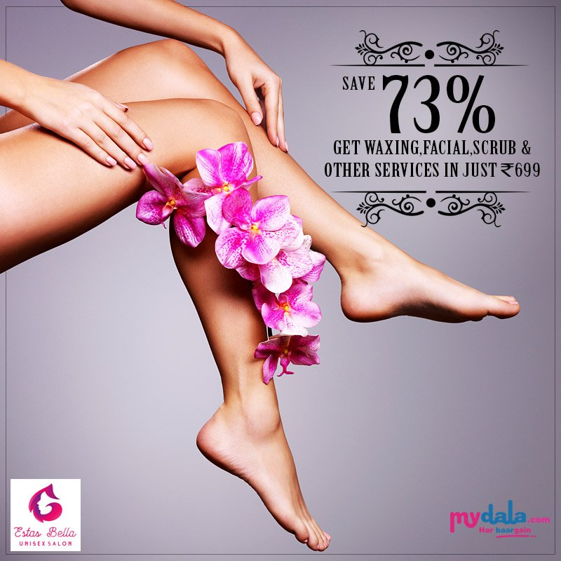 Book Your Appointment With Estas Bella & Save Upto 73% on their services. Book Now: https://t.co/4ozn958mBV #booknow #offers #salon #waxing #facial #scrub #estasbella https://t.co/0vGzugaIph