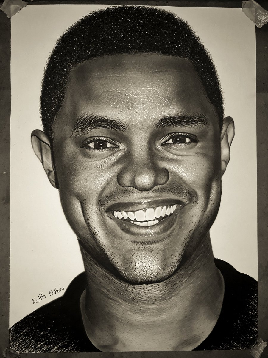 Just completed a drawing of @Trevornoah I'm a huge fan!   Please retweet and like this to show some love for the Cracker of Jokes, the Daywalker, the Son of Patricia and true king of @TheDailyShow! Let's not stop till he sees it!   I'm a 4th year medical student from Zimbabwe. https://t.co/mGqiRJlpDw