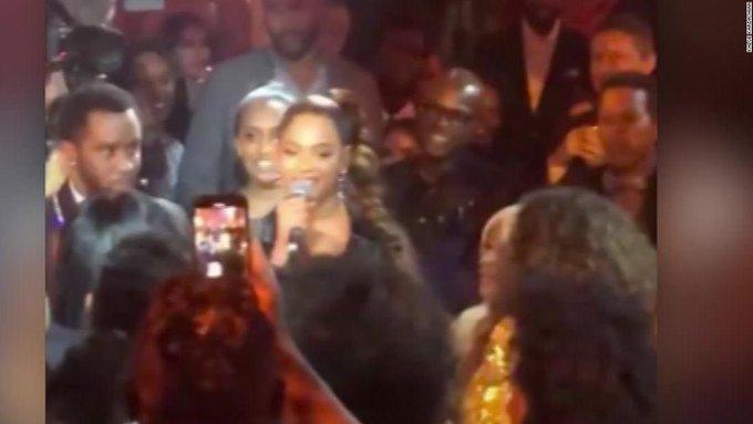 Beyoncé serenades legend for her birthday