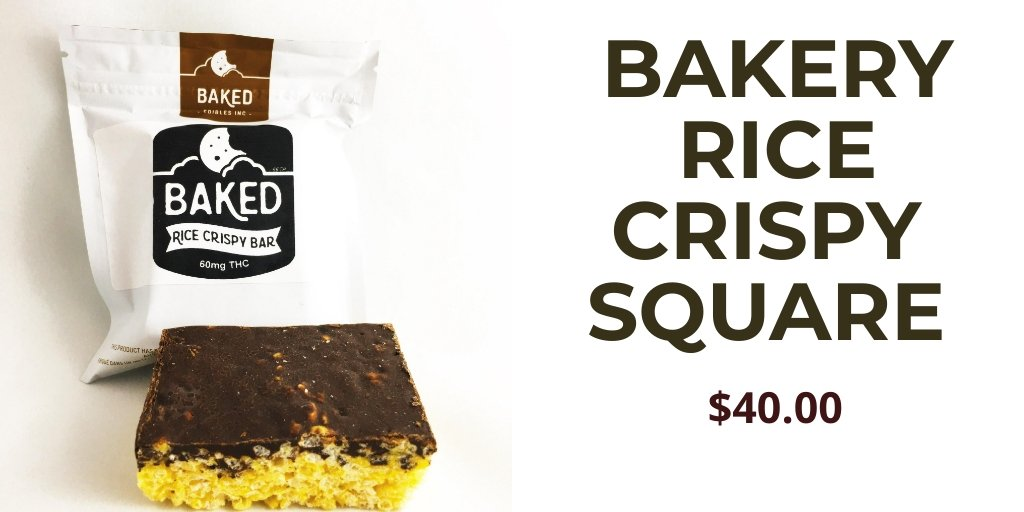 BAKERY RICE CRISPY SQUARE $40.00 Crispy and Crunchy. A delightful twist on a delicious classic. Crispy rice folded into a melted marshmallow and added a decadent layer of chocolate on top. Visit http://www.eshopmarijuana.com for further details. Check it out now! #WeedLover #cbdoil
