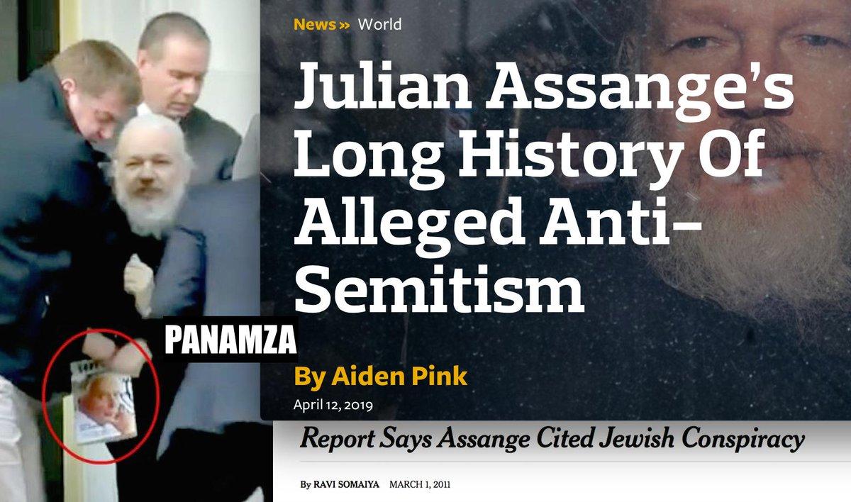 Julian Assange, un antisémite masqué selon la presse juive
