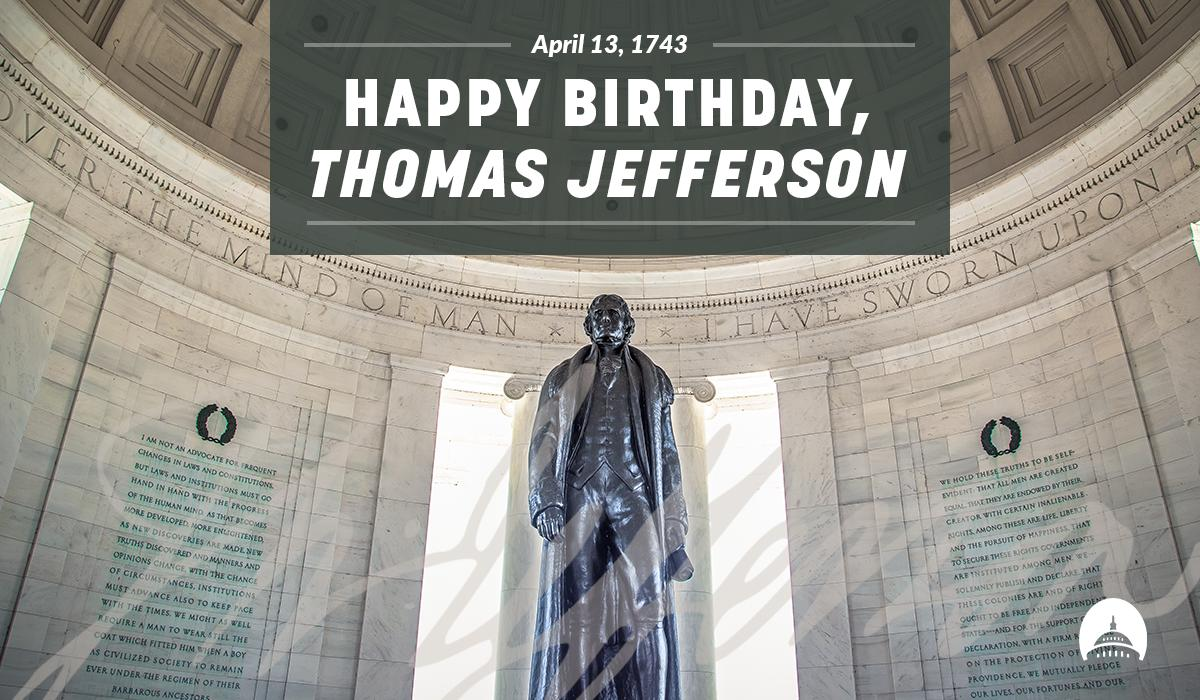 Happy birthday to the principle author of the Declaration of Independence, 3rd President of the United States, and founder of the NCAA Championship-winning University of Virginia, #ThomasJefferson!
