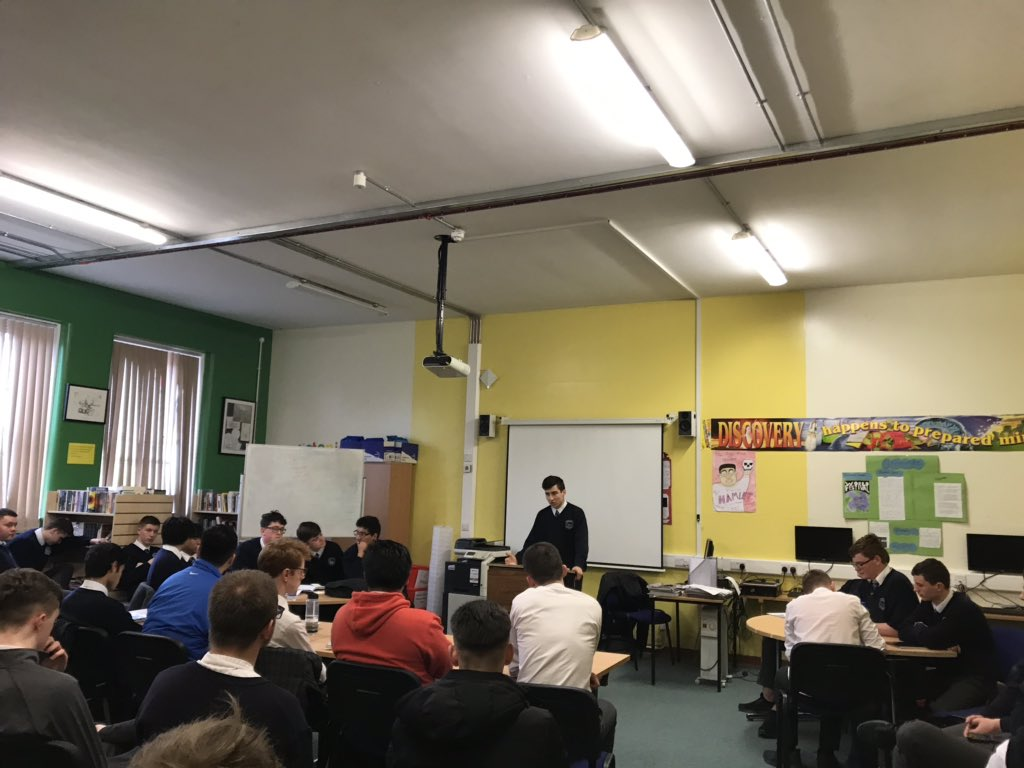 Well done to our fifth year students who participated in a very lively and heated debate today. #literacy #debating #literacyweek #publicspeaking