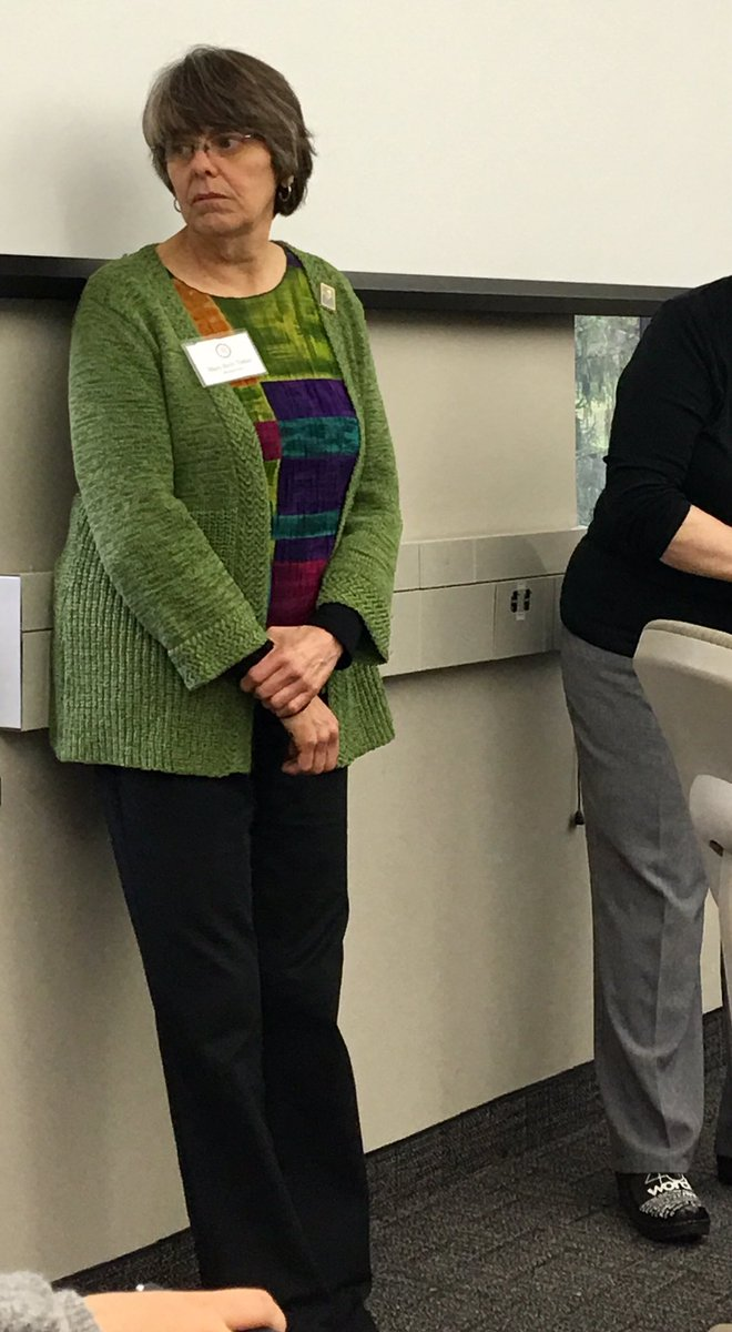 """Not a great photo, but this is Mary Beth Tinker, plaintiff in the landmark SCOTUS case, Tinker vs. Des Moines. It's the case that determined that """"students don't leave their constitutional rights at the schoolhouse gate."""" This year is the 50th anniversary of the decision."""