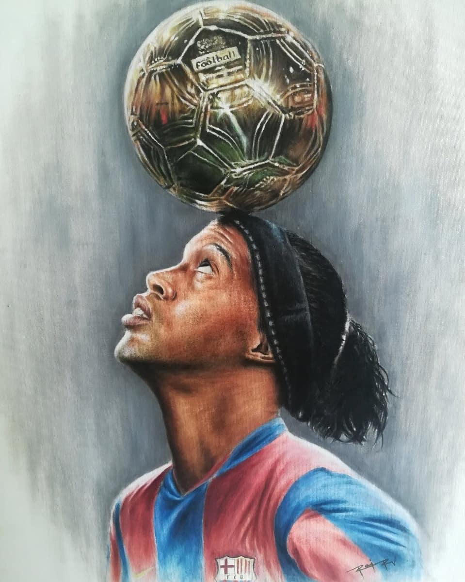 #RonaldinhoArt #rajrv666 👏🏾🤙🏾🎨