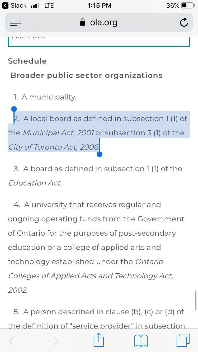 Dara Renton On Twitter Public Libraries Are Included Under Local Board That Definition From City Of Toronto Act