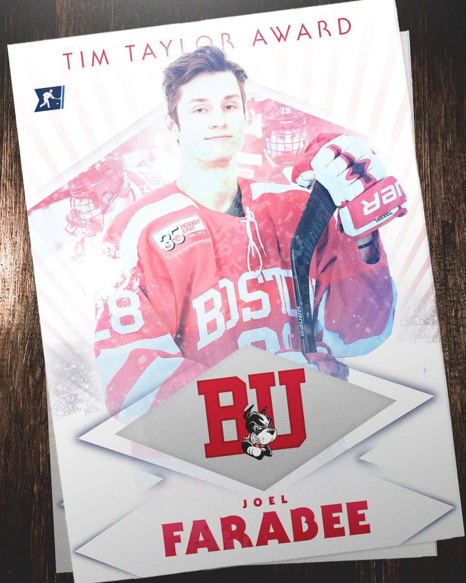 A tap of the stick to Joel Farabee, who was named the Tim Taylor Award winner as the National Rookie of the Year. #NCAAHockey