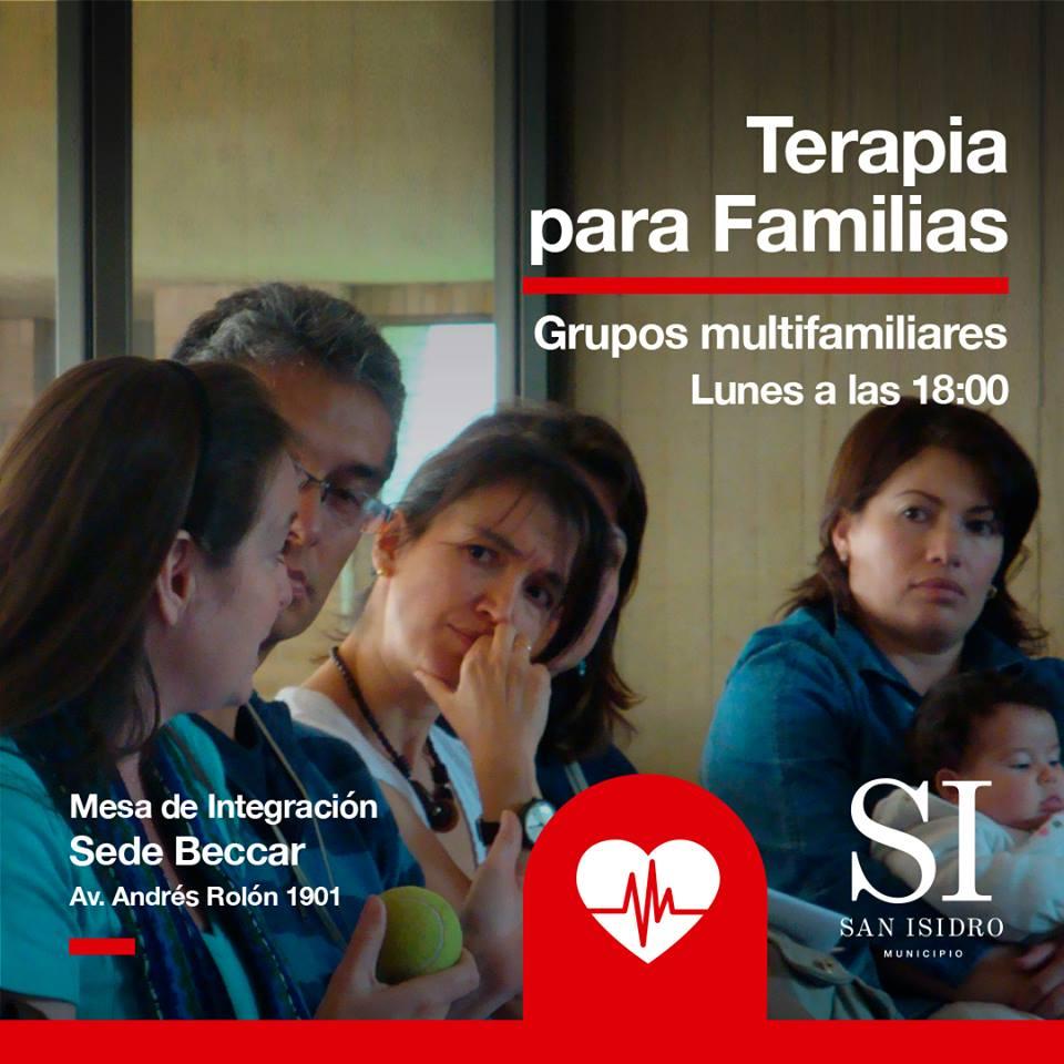 TERAPIA FAMILIAR EN BECCAR Ofrecemos un servicio municipal terapéutico de grupos multi-familiares para que puedas compartir tus experiencias y ser escuchado. 🗓Lunes a las 18:00 📍Sede Beccar, Av. Andrés Rolón 1901 #TerapiaFamiliar #Gratis #SanIsidro