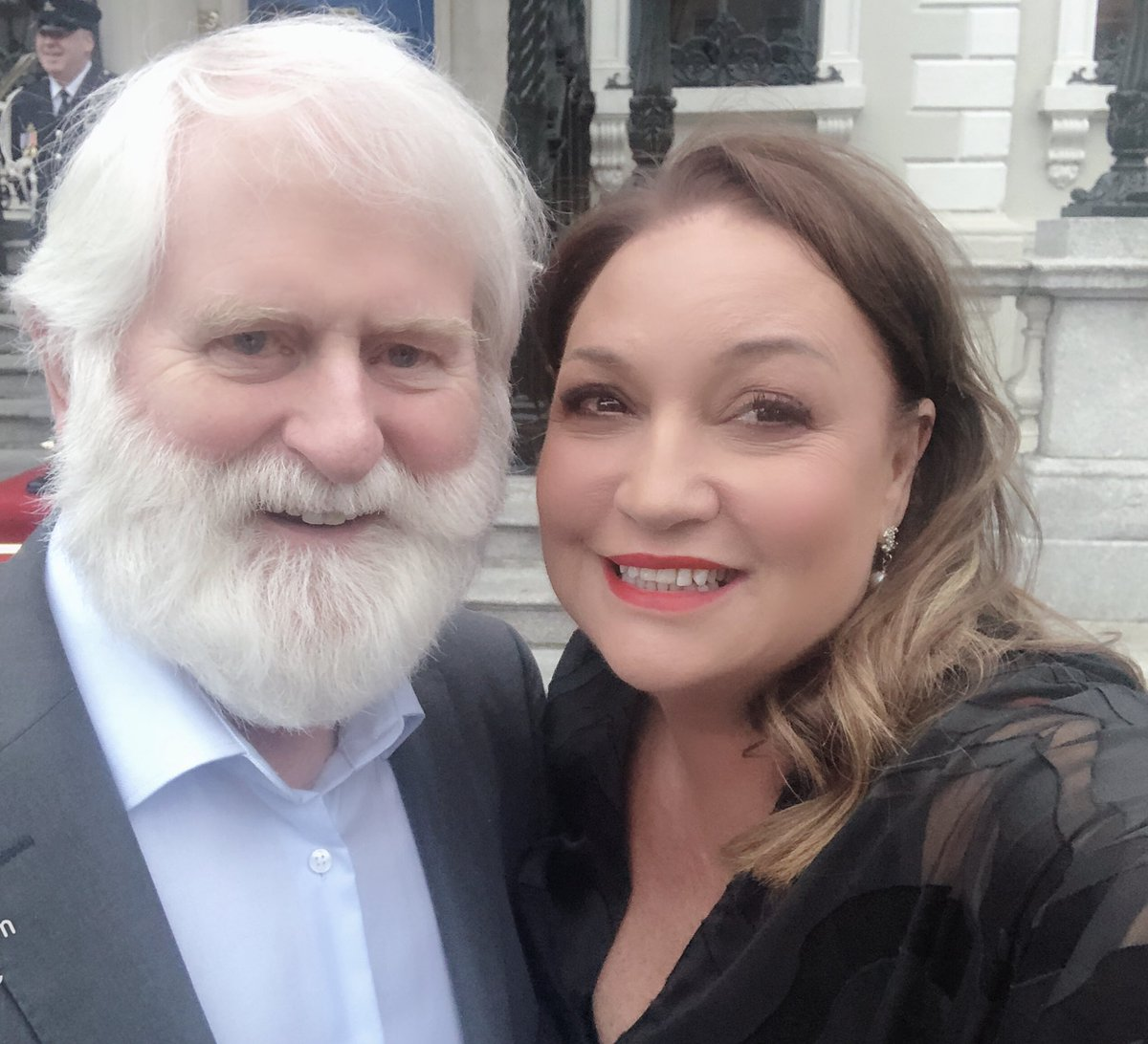 This man and me - sometimes I have to pinch myself... together for @LordMayorDublin awards .. but so many connections- our first dance (me and Richard) was the Marino Waltz - we last met @MayorofLondon #StPatricksDay a million years ago and here we are tonight @MansionHouseDub<br>http://pic.twitter.com/MLuN3ZMNaj