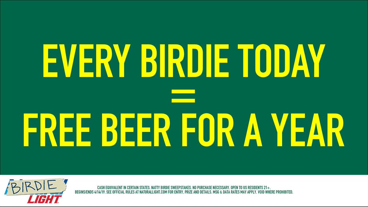 Retweet for a chance to win beer for a year #BirdieLight #Sweepstakes