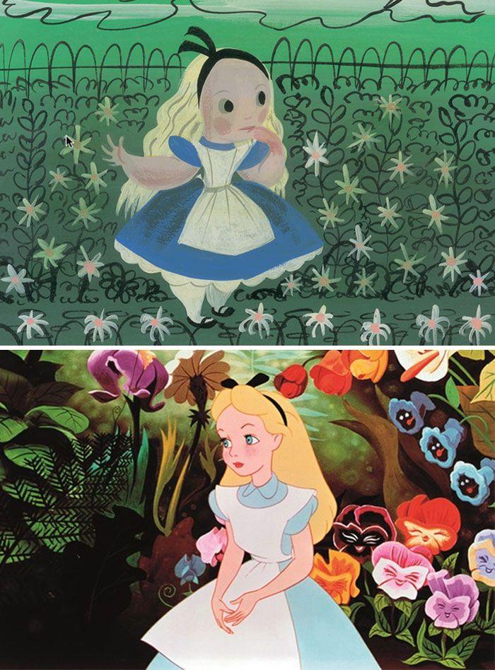 Original Alice In Wonderland Concept Art