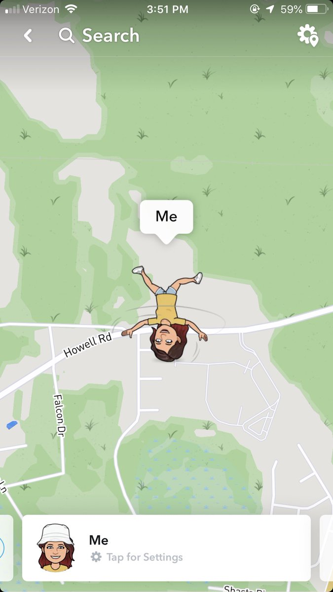 What does upside down mean on snapchat map