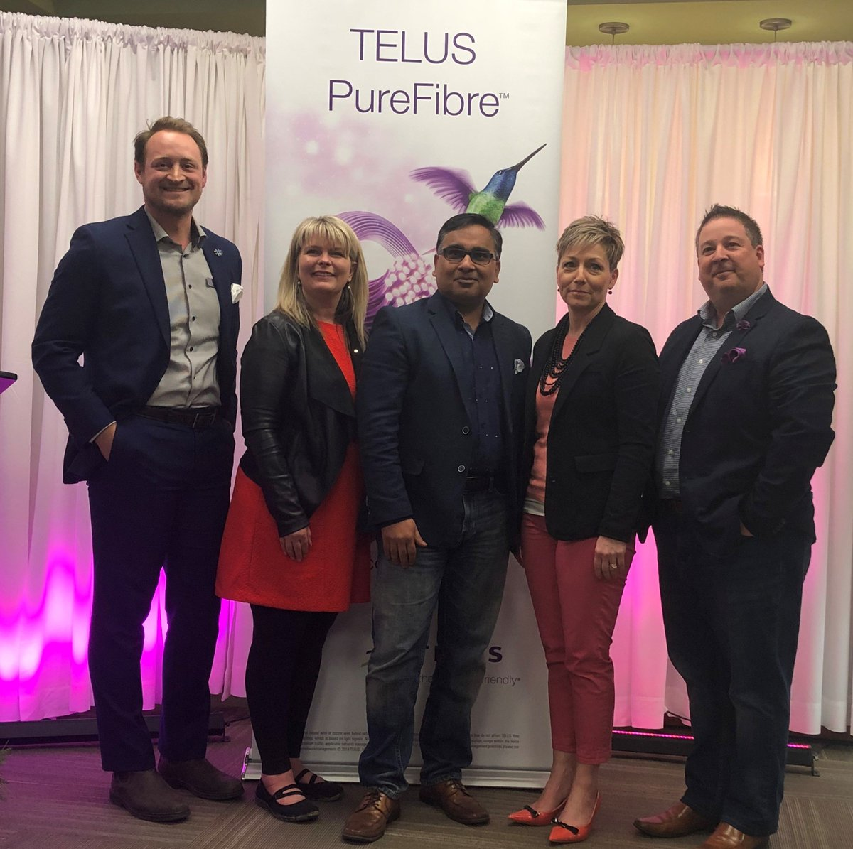 I'm very pleased with Telus' announcement to invest in Sturgeon County & St. Albert improving the broadband network