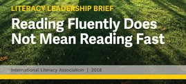 """Reading fluency is necessary for comprehension and motivated reading, having been described as a bridge between early and later reading phases."" Our literacy brief defines reading fluency and the role it plays in skillful reading.  http://bit.ly/ILALitBrief_Fluency …"