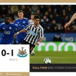 FULL-TIME: Leicester City 0 Newcastle United 1A HUGE THREE POINTS FOR THE MAGPIES!!!