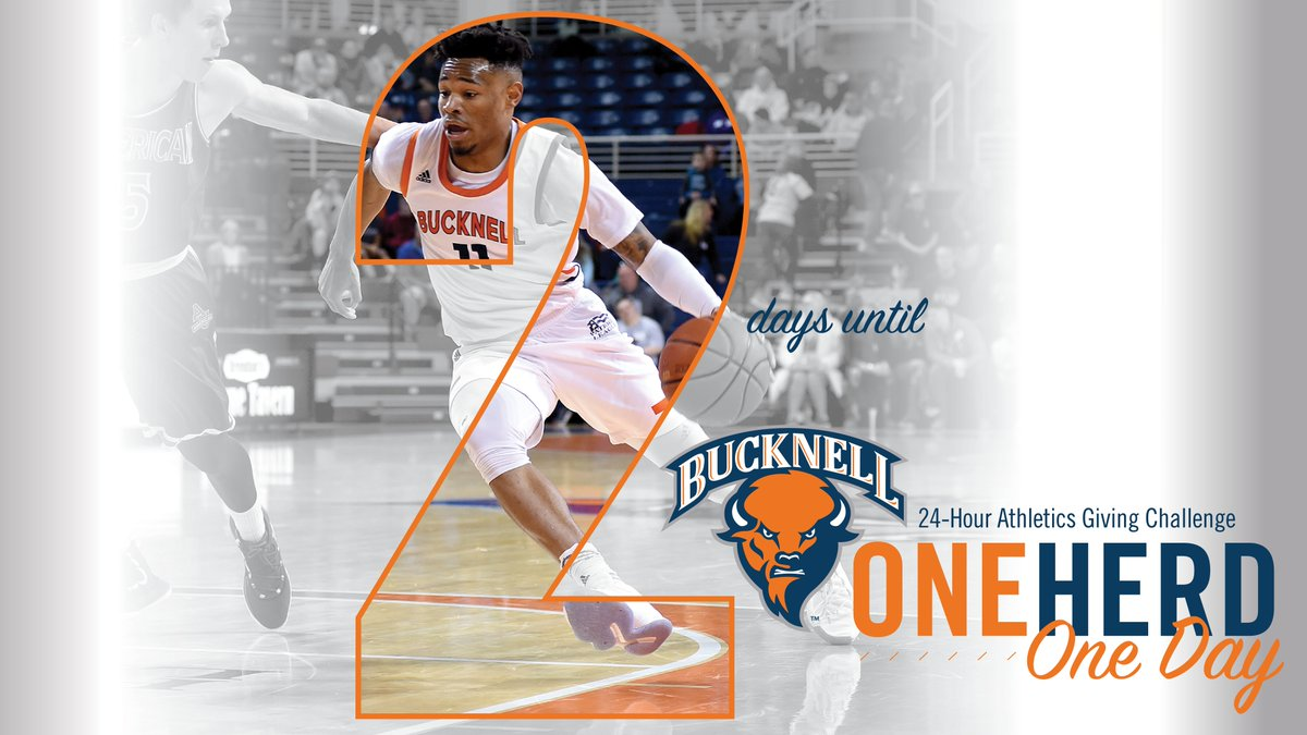 We're down to 2⃣ days remaining until #OneHerdOneDay! Your participation will help us continue our championship tradition. #rayBucknell #TheBisonWay