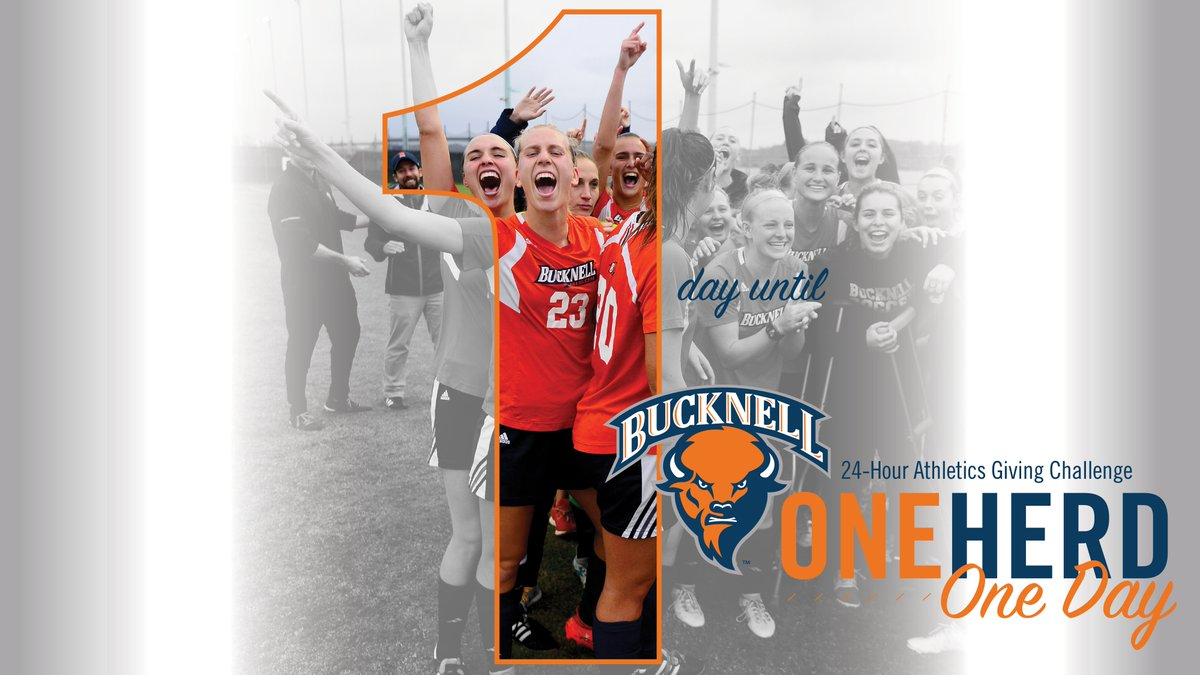 Tomorrow is the day. Please participate in the #OneHerdOneDay 24-hour giving challenge. It's a great way to make a direct impact on our program.   https://www.bucknell.edu/oneherdoneday  #rayBucknell #TheBisonWay    #rayBucknell #TheBisonWay