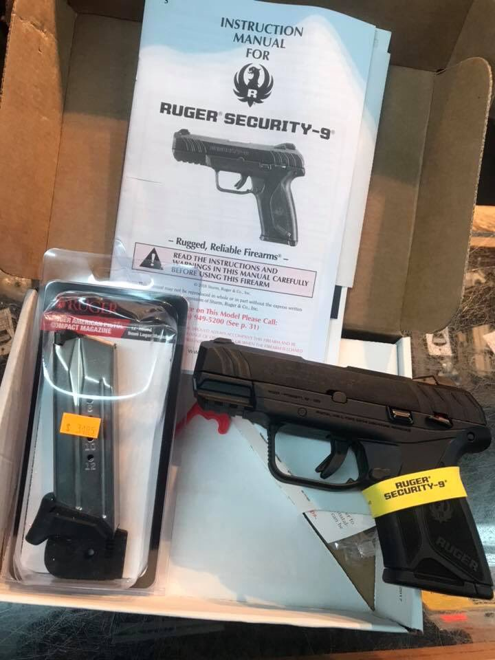Ruger's NEW Security-9 compact w/10rd mag $299 00 extra 12rd mags