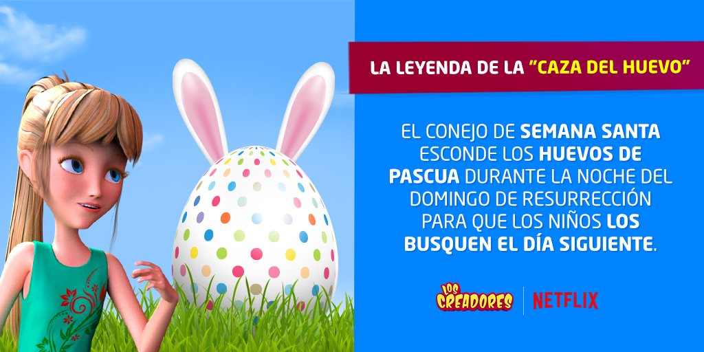 Una leyenda de un conejo que esconde huevos, + niños en busca de ciencia y diversión... ¿Qué podría salir mal?🥚🐰😅  ✔️ Busca a Los Creadores en Netflix. Disponible en América y Europa, en 3 idiomas ➡ https://t.co/3QDWQ6VYAB https://t.co/do42llYAcr
