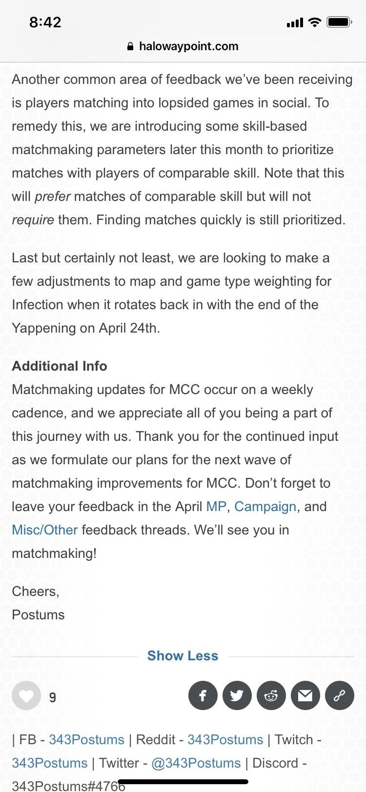 halo mcc matchmaking reddit besplatno mjesto za upoznavanja u Missouriju