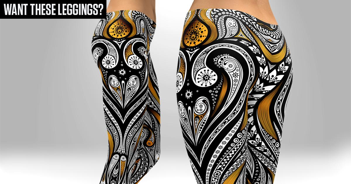 b26397226fb05a Orange Ornamental Skull Leggings The perfect update to your workout robe!  Click Here http: GearBunch
