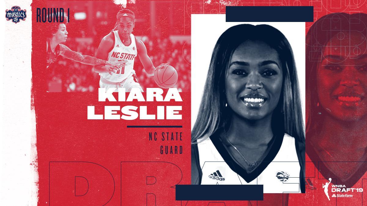 🗣 Welcome to D.C. @Kiaraleslie30!  #WNBADraft #TogetherDC