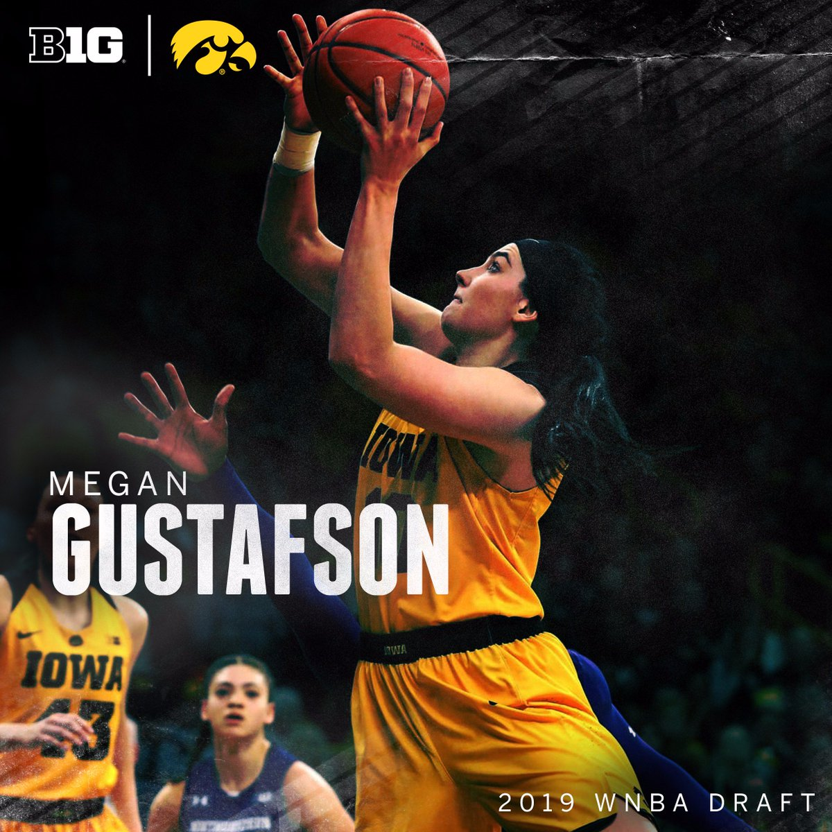 2019 Consensus National Player of the Year and @SnrCLASSAward recipient Megan Gustafson earned two Academic All-Big Ten honors while working toward degrees in marketing & finance.   #B1GWBBall x #WNBADraft