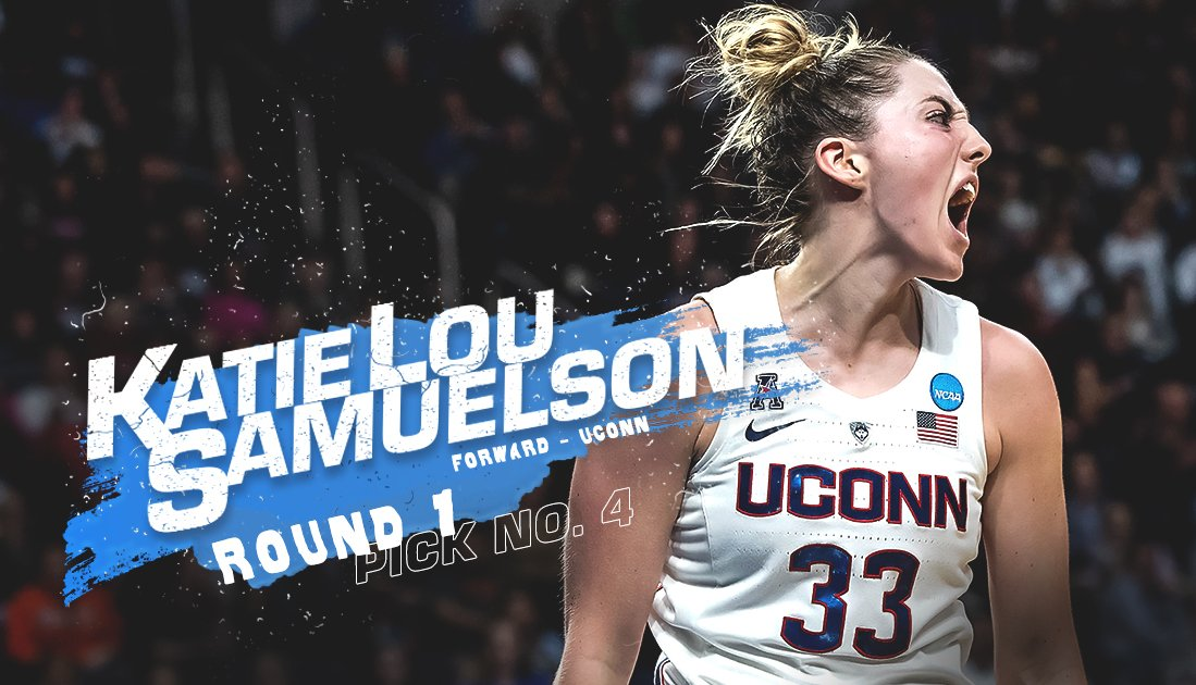 With the #4 overall pick in the 2019 @WNBA Draft, the Chicago Sky select Katie Lou Samuelson from @UConnWBB!   #WNBADraft #CHIPick