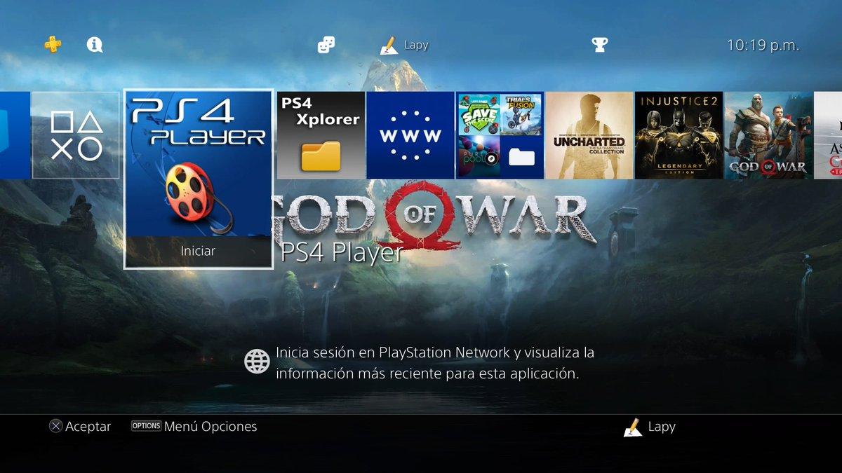 السلام عليكم ورحمة الله وبركاته PS4 Player 1.0.
