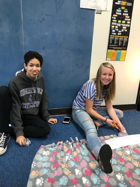 Our 8th grade PCC students are working on a community