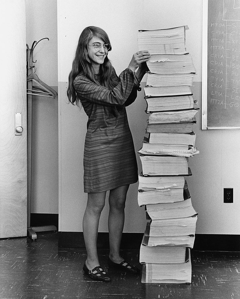 1969: Margaret Hamilton alongside the code that got us to the moon 2019: Katie Bouman alongside the data that got us to the black hole