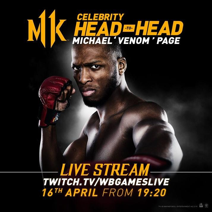 Kombat Meets Combat! Watch me battle it out on @MortalKombat in a Celebrity Head-to-Head tournament via Twitch.TV/WBGamesLive , Tuesday 16th April from 19:20 #MK11 #Ad