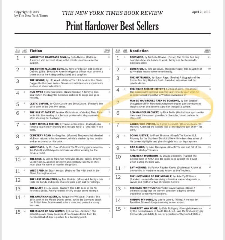 ny times best seller list