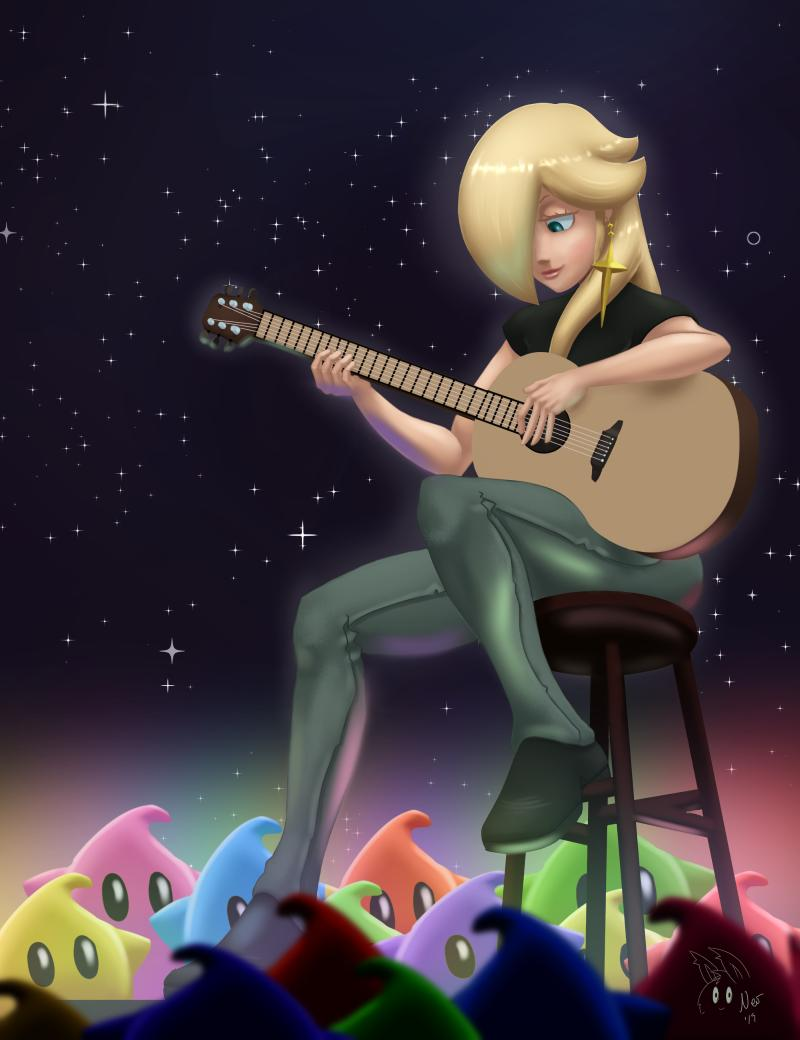 Rosalina Playing Guitar Inspired By The Concept Art From