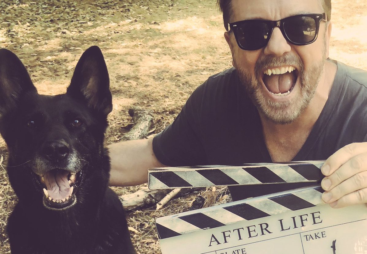 Thanks again for all the love for #AfterLife still flooding in. Reviews were great, but the response from viewers has been AMAZING!. And that means so much more to me. Oh, and thanks even more for supporting all the animal welfare stuff I bother you with. Best fans in the world.
