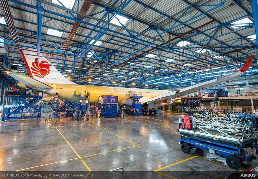 First pictures of @lionairgroup #A330neo at our final assembly line in Toulouse! Joining the airline's fleet in the coming months.