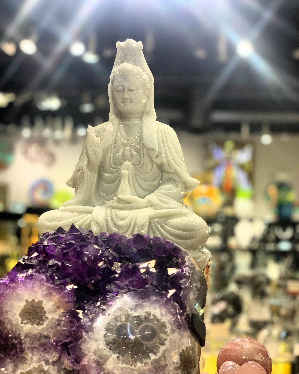 Wednesday Vibes  Kwan Yin Carved from crystallized marble $1,380