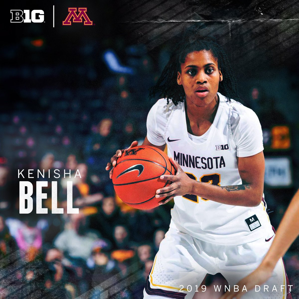 Two-time All-Big Ten selection Kenisha Bell earned Academic All-Big Ten honors this season while pursuing a degree in recreation administration.  #B1GWBBall x #WNBADraft
