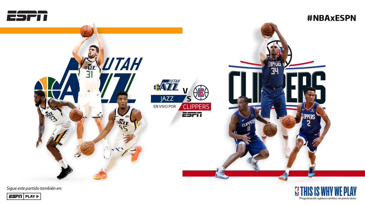 ¡No te pierdas la acción de la #NBAxESPN! 🏀🔥🙌  @utahjazz 🆚 @LAClippers ⏰ 8:30 PM  📺 ESPN https://t.co/4aT1wg2W9v