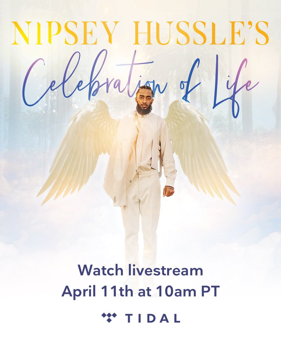 We are honored to bring the Celebration of the Life & Legacy of Nipsey Hussle to fans across the globe via livestream.  Members and non-members alike can tune in on 4/11 at 10am PT. https://t.co/v9tl7dACXf https://t.co/kEK583PNI9