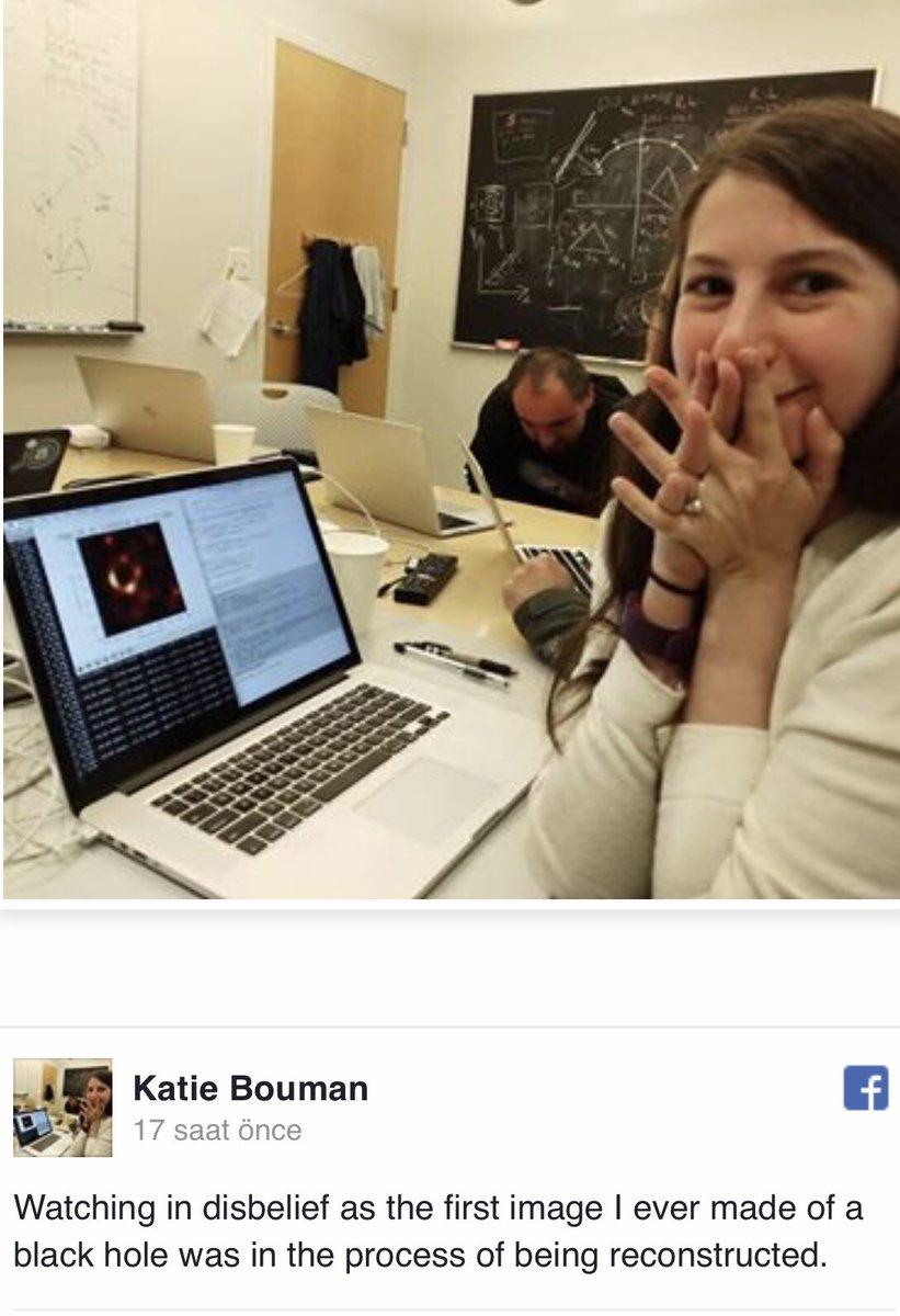 Katie Bouman. Kara delik fotoğrafının çekilmesini mümkün kılan yeni algoritmayı geliştiren kadın. Şu gülüşün güzelliği hayatın tüm kara deliklerine cevap gibi... ♥️