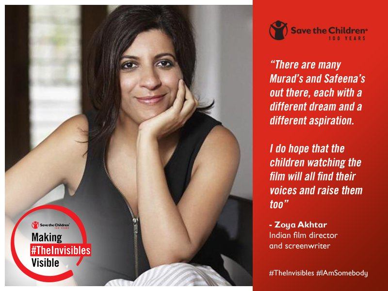 A day before International Day for Street Children, 12 April, Zoya Akhtar shares a special message as Save the Children takes 800 children for an exclusive screening of Gullyboy across four cities in India. #TheInvisibles, #IAmSomebody #CommitToEquality #StreetChildrenDay