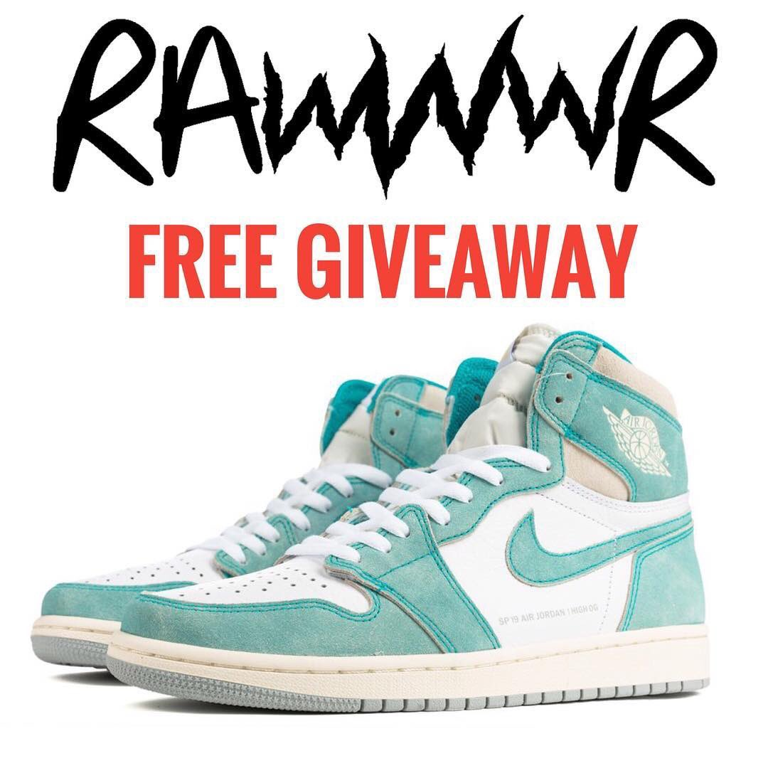 26dfe024 Wear'em, gift'em, resell'em, just don't trash'em! Follow @Official_Rawwwr  Twitter and check rules on our IG for a chance to win and for future  giveaways!
