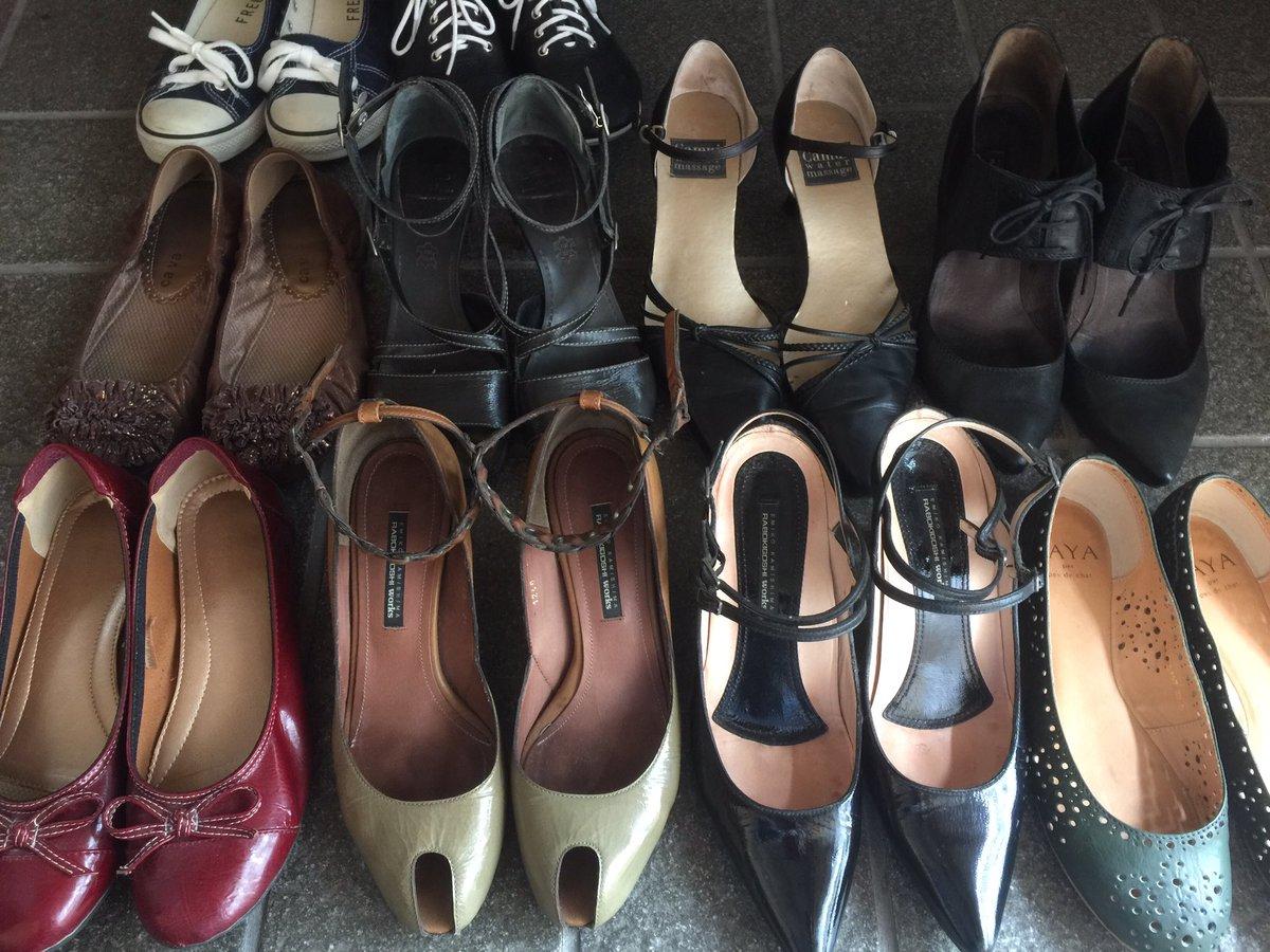 埃だらけになっていた靴たちを救ってきた。結婚まえ実家に帰ってくるときにかなり処分したんだけど、好きすぎて一緒に帰ってきた精鋭たち。就職したらよろしくー!
