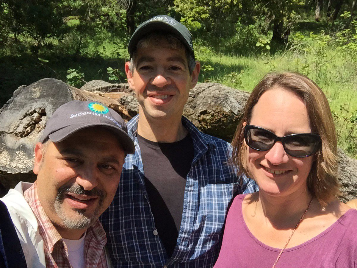 Had an awesome day talking science and hiking in the hills behind Berkeley with Caroline Willams and @sethfinnegan1