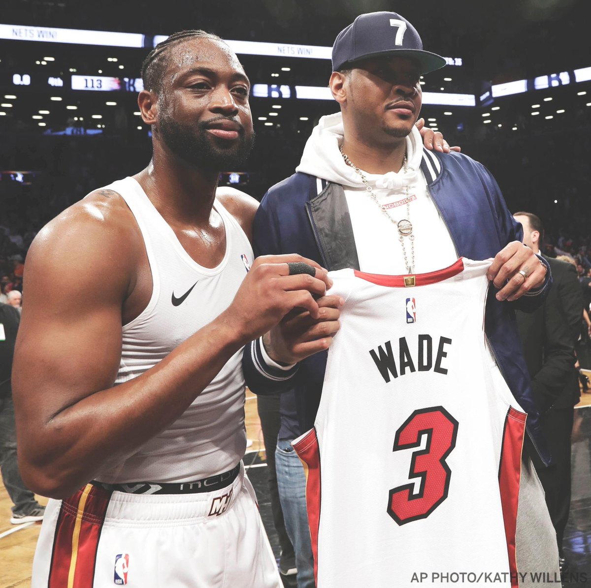 Congrats to my brother @DwyaneWade on an incredible career. #BiggerThanBasketball #OneLastDance #STAYME7O 📸: @espn