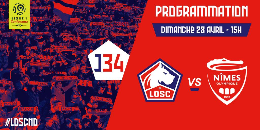34 EME JOURNEE DE LIGUE 1 CONFORAMA : LOSC - NO  D32xqZgXkAAA4Ou