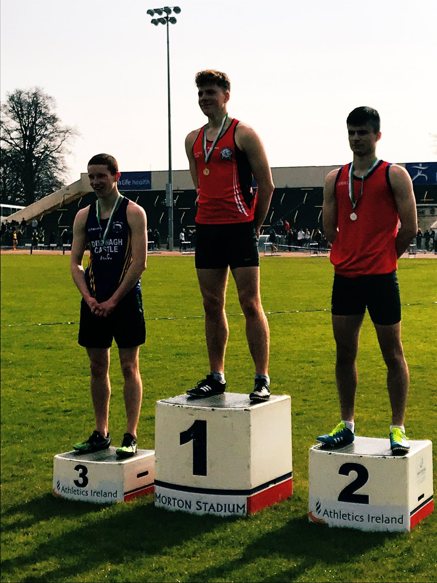 Well done to all students who participated in the second day of the West Leinster Athletics championships @irishathletics. Big congratulations to today's medal winners Bartosz Marciszewski and Daragh Mc Cauley.  #athletics #activeschools